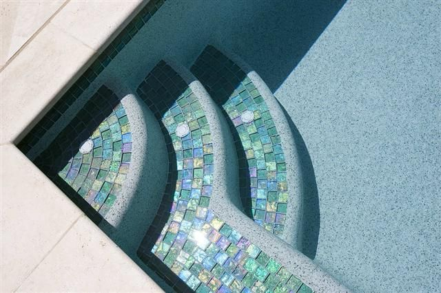 - Lightstreams Glass Pool Tile | Celadon Green