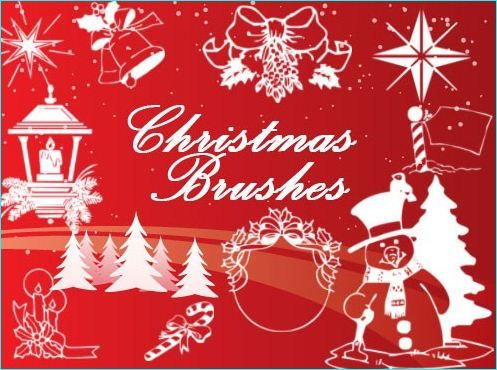20 Holiday Design With These Free Christmas Tree Brushes