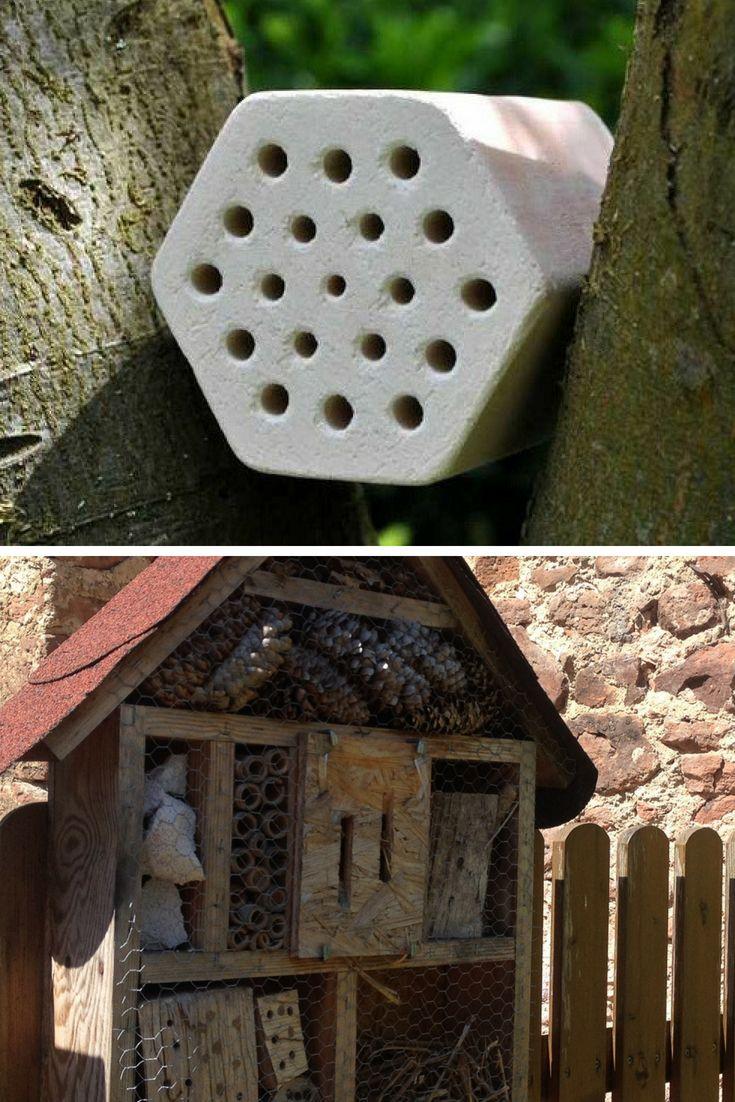 insektenhotel selber bauen? hier gibt's die nistblöcke aus ton dazu