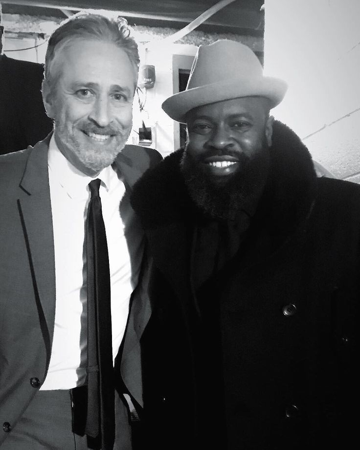 """Jon is literally my day one. First time we played on real tv it was on his show at MTV when we were all on the come up. '95. It's always great to reconnect with him this year as the house band for """"Night Of Too Many Stars"""" --  to Jon . . .  @iamsuede  ___________ #hbo #jonstewart #autismawareness #theroots #nyc #ny #philly #philadelphia #giveback #Fall #itaintfair #oldschool #hiphop #rap #mtv"""