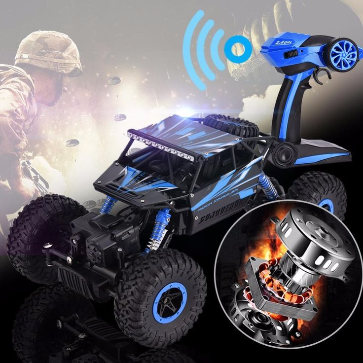RC Toy 1/18 Scale Off-Road Vehicle RC Car 2.4G 4CH 4WD Rock Crawler Trunk Racing Car Remote Control Buggy Car Model