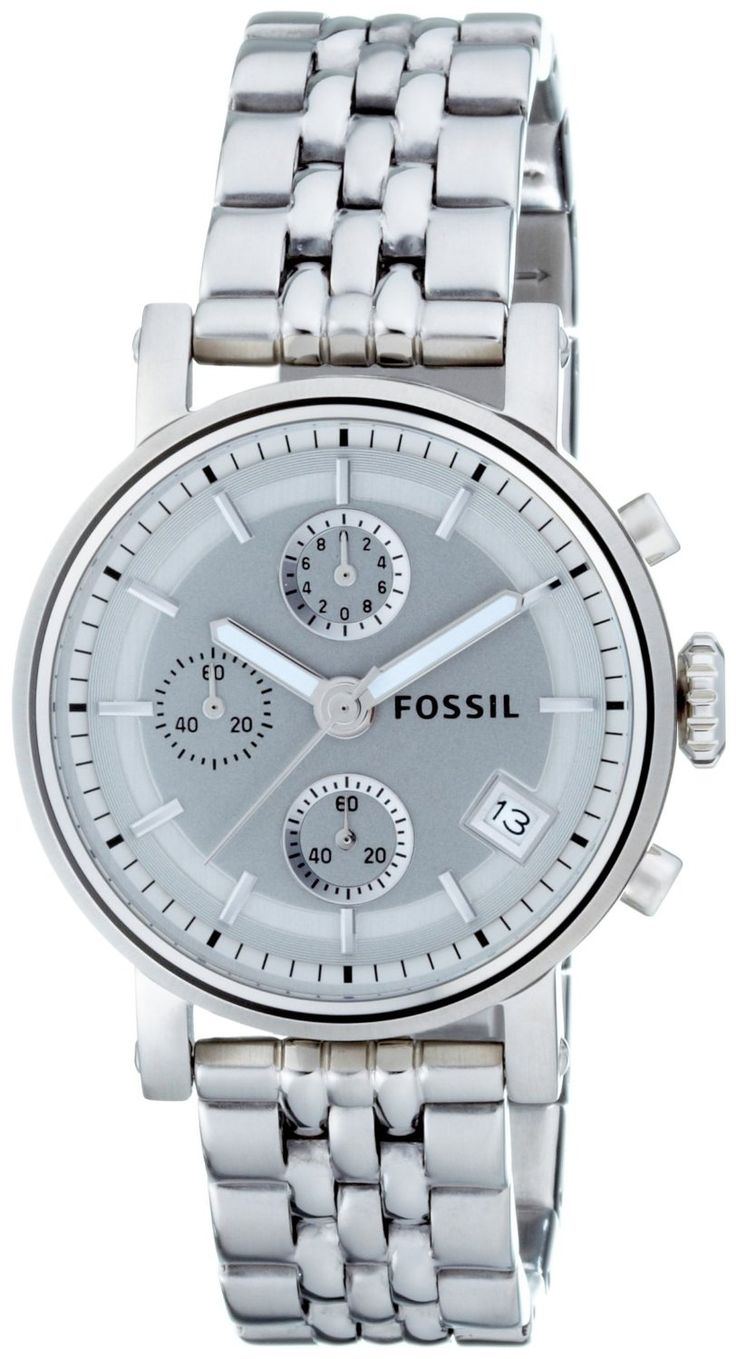 Fossil Women's Stainless Steel Bracelet Silver Analog Dial Multifunction Watch $97.95 http://amzn.com/B001RTS2GC #WomenWatches #FossilWatches
