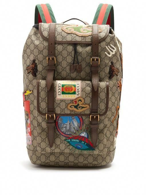 73b8b23022c GUCCI Gg Supreme Embroidered Backpack.  gucci  bags  leather  lining  canvas   nylon  backpacks    Guccihandbags