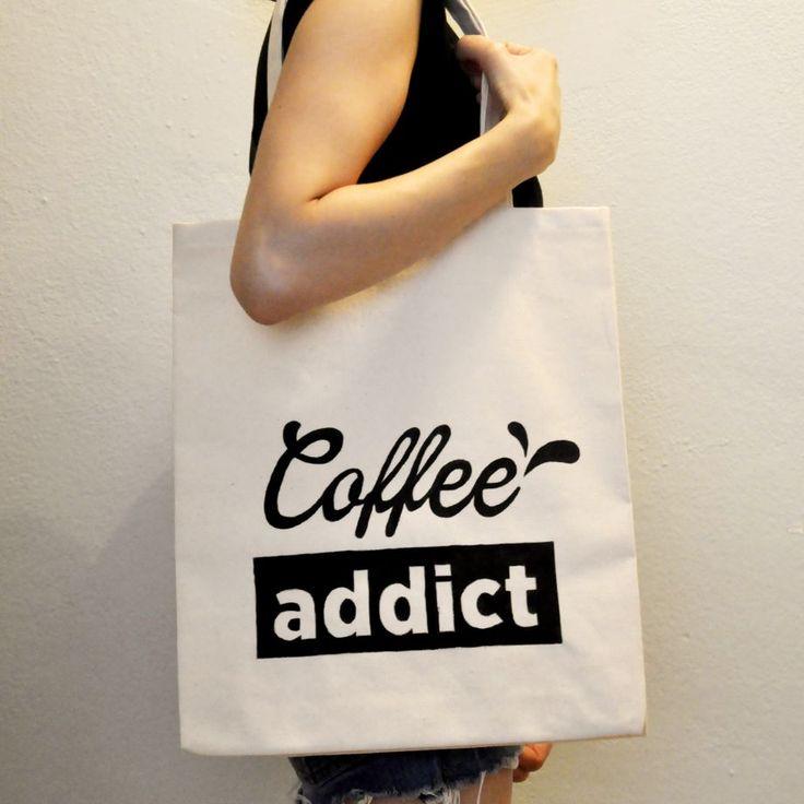 Coffee Addict / El Yapımı Bez Çanta Zet.com'da 70 TL