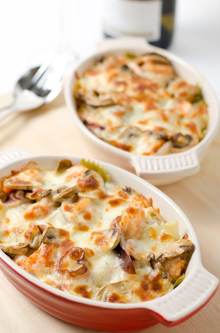 Baked Seafood Pasta - Omnivore's Cookbook @Omnivore's Cookbook