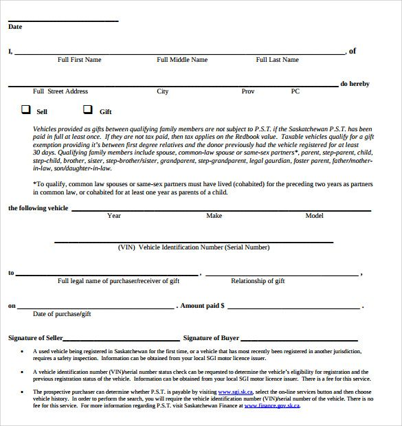Example Of Bill Of Sale For Car Step Parenting First Names Sale