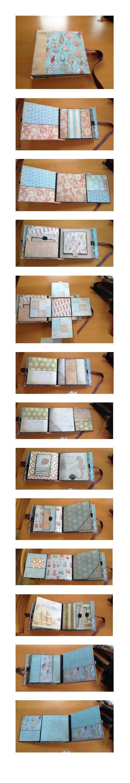 8x8 mini album using The Paper Studio Beach House papers