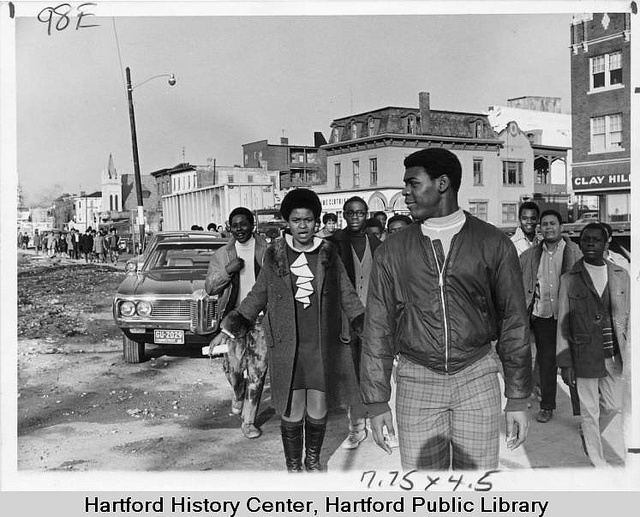 Weaver High School students marching on Albany Avenue, Hartford, December 12,1969 by Connecticut History Online, via Flickr