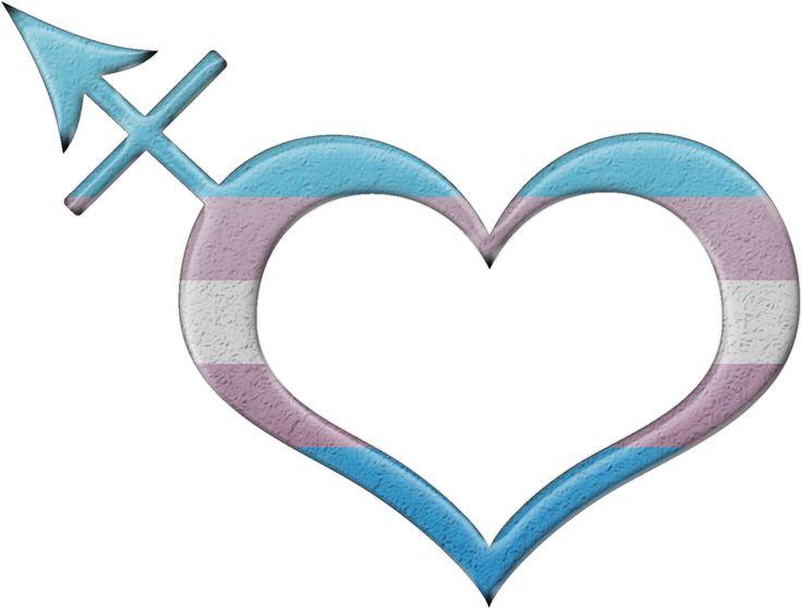 Transgender pride heart shaped Transgender symbol in matching pride flag colors.  #transgender #liveloudgraphics