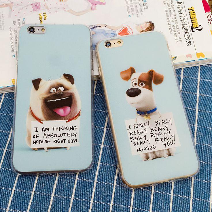 Antiknock De Geheime Leven van Huisdieren honden cartoon TPU zachte gel siliconen clear case voor iphone 5 5 s 5g 6 6 s 6 s plus gevallen cover