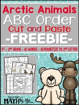 Download this FREEBIE and let students practice their alphabetizing skills using vocabulary from Christmas.  This ABC Order Cut and Paste FREEBIE is a fun color, cut, and paste activity that includes an animals of the Arctic theme where students place words in ABC order.