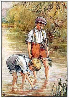 Cicely Mary Barker - boys wading in the creek