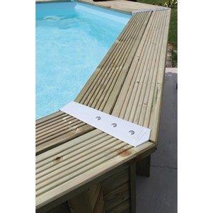UBBINK AZURA Piscine bois sable 3,55x5,50x1,20 m - Achat / Vente kit piscine Piscine bois 355x550cm - Soldes* d'été Cdiscount