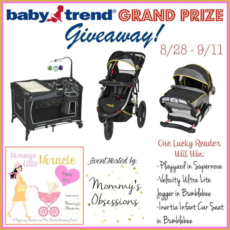 {Mommy's Little Miracle GRAND PRIZE GIVEAWAY} Baby Trend