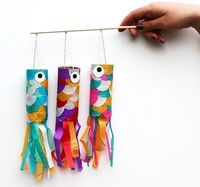 Flying Japanese Carp Craft - Things to Make and Do, Crafts and Activities for Kids - The Crafty Crow