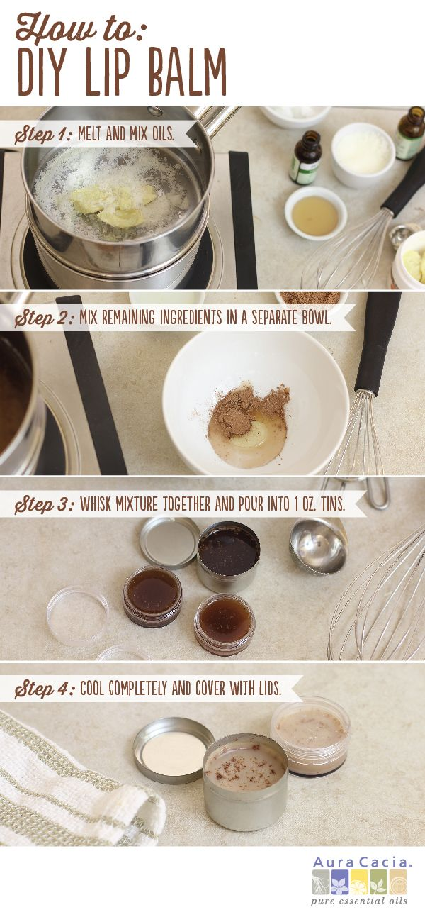 You're just a few short steps away from creating your own cocoa-chamomile lip balm. Click for the how to.