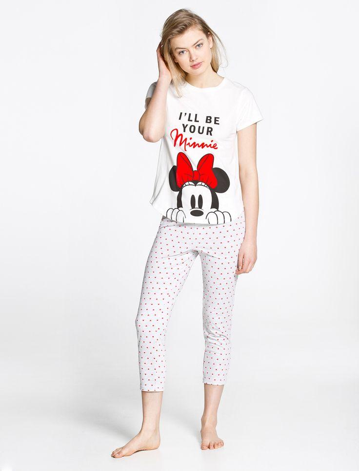 women'secret   Products   Mickey and Minnie long pyjama