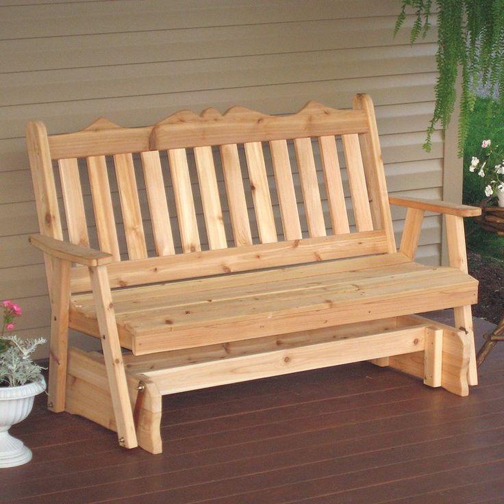 Exceptional A U0026 L Furniture Western Red Cedar Royal English Outdoor Glider