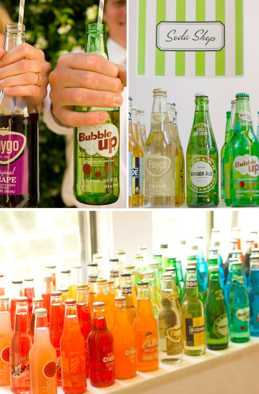 An old-fashioned soda bar: | 23 Brilliant Wedding Bars From Couples Who Dared To Dream