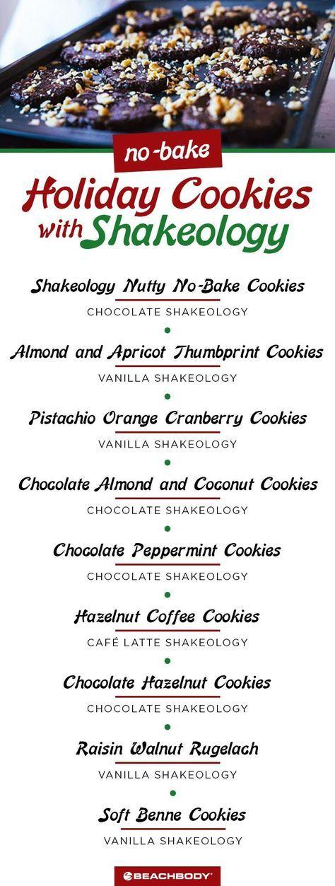 Healthy Recipes for No-Bake Holiday Cookies with Shakeology // best no bake cookie recipes // holiday cookie recipes // christmas cookie recipes // healthy cookie recipes // Shakeology recipe // 21 Day fix // Beachbody // Beachbody Blog