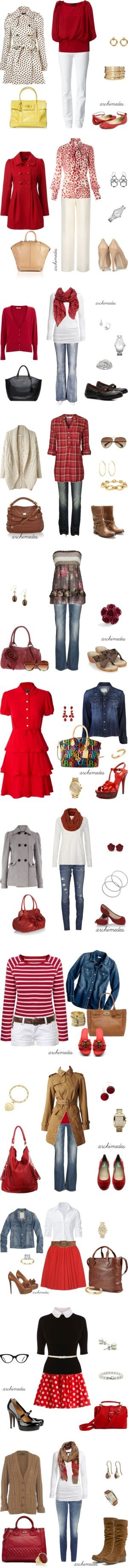 """Red"" by archimedes16 on Polyvore"