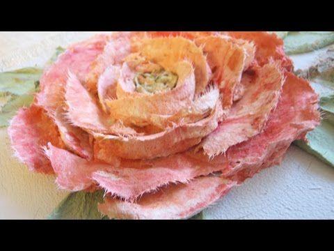 (95) Рельефная живопись декоративной штукатуркой. Работа мастихином. - YouTube