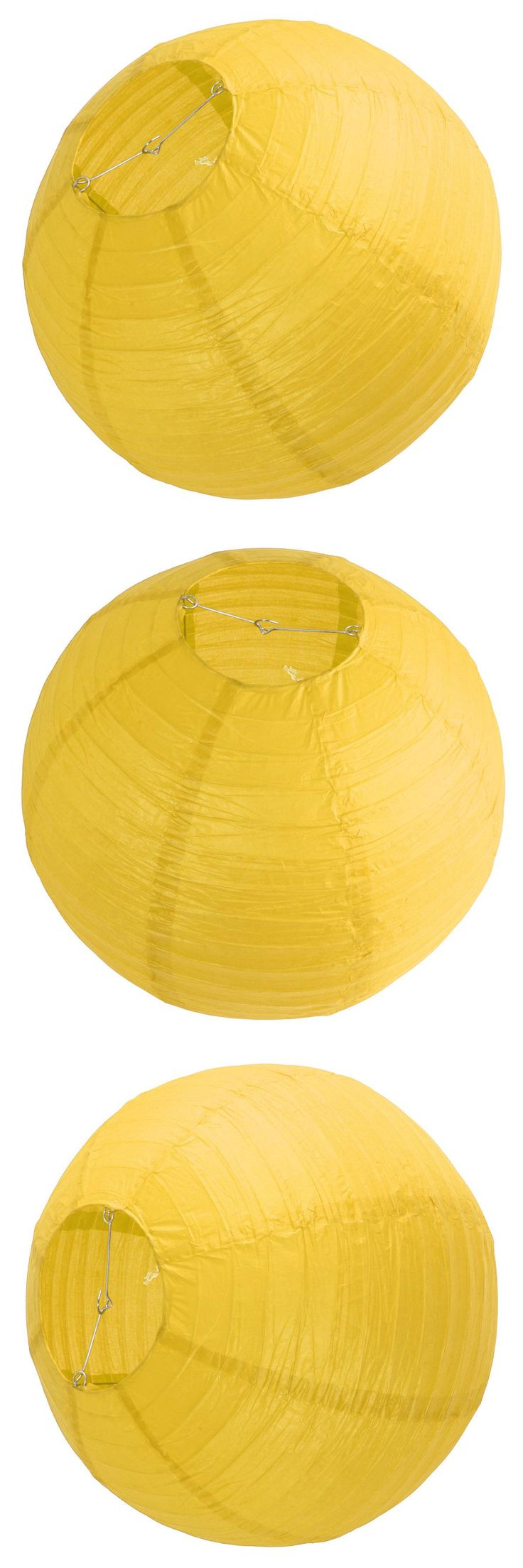 "[Visit to Buy] FJS-1 x Chinese Japanese Paper Lantern Lampshade for Party Wedding, 50cm(20"") Yellow #Advertisement"