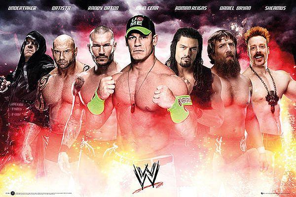 Póster WWE Superstars 2014 Estupendo póster con la imagen de los grandes luchadores del 2014.