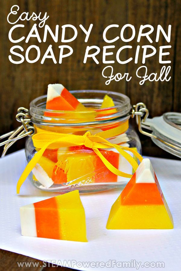 Easy Goat Milk Soap recipe inspired by Candy Corn   – >> Halloween