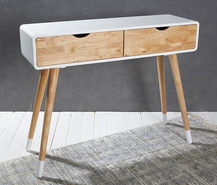 Konsolentisch Holz Weiß Natur Konsole Schminktisch Anrichte Modern Tisch  Design: Amazon.de: Küche