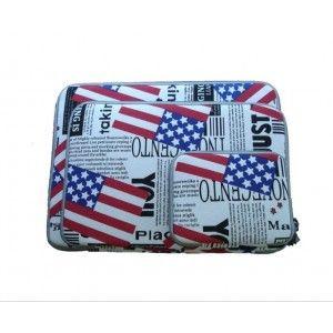 Apple-Laptop-Tasche MacBook air 11 Zoll pro13 Zoll Schutzhülle Flagge + Netzteil-Tasche