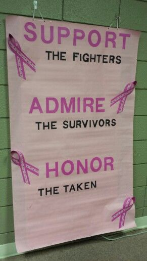 Breast cancer poster board.