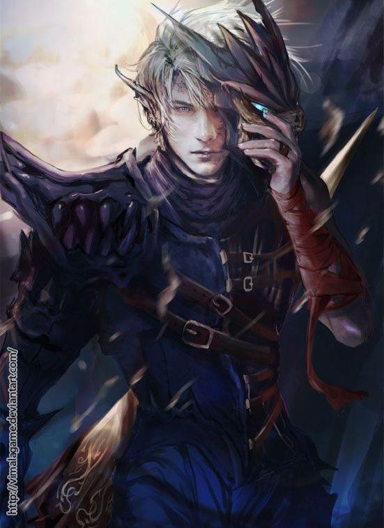 digital art fantasy handsome