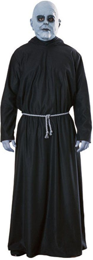 Uncle Fester Robe & Face Paint Adams Family Halloween Creepy Costume
