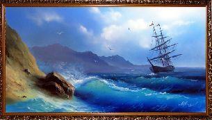 Бушующее море - Морской пейзаж <- Картины маслом <- Картины - Каталог | Универсальный интернет-магазин подарков и сувениров