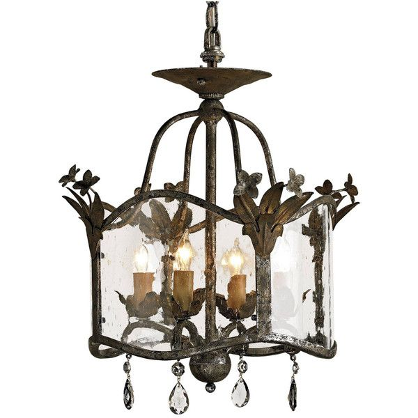 Flush Mount Glass Panels Small 4 Light Chandelier ($990) ❤ liked on Polyvore featuring home, lighting, ceiling lights, chain chandelier, chain lighting, hanging chain lamps and chain lamp