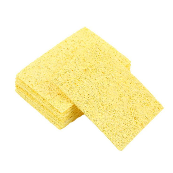 20pcs High Temperature Enduring Condense Electric Welding Soldering Iron Cleaning Sponge Yellow Hot Search