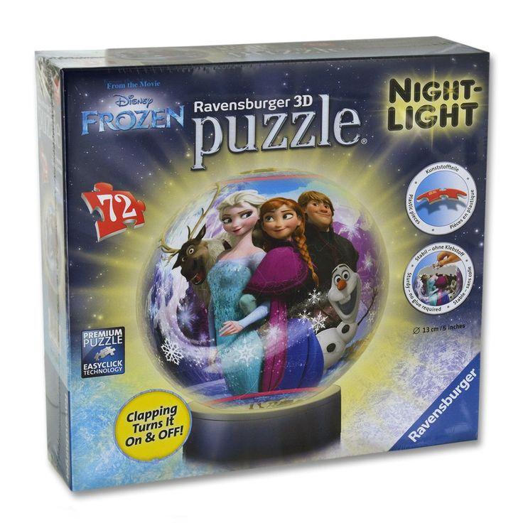Puzzle Ball 72 Pièces Lumineux La Nuit : La Reine Des Neiges (frozen) – Taille : Taille Unique