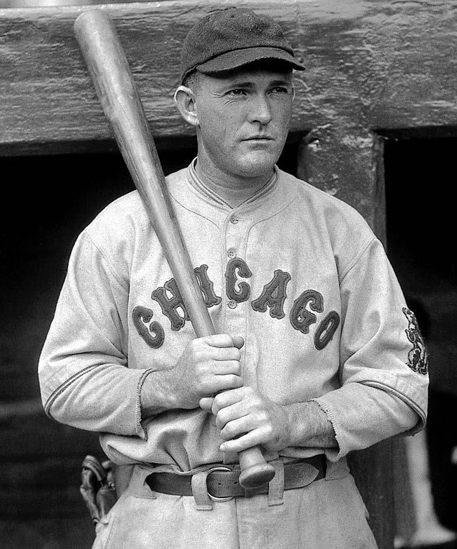 1929 Rogers Hornsby - Chicago Cubs won the NL MVP award hitting 49 HR's, 139 RBI's and a .380 average.  Hornsby also led the Cubs to a World Series appearance against the Philadelphia A's.  The A's defeated the Cubs in 5 games.