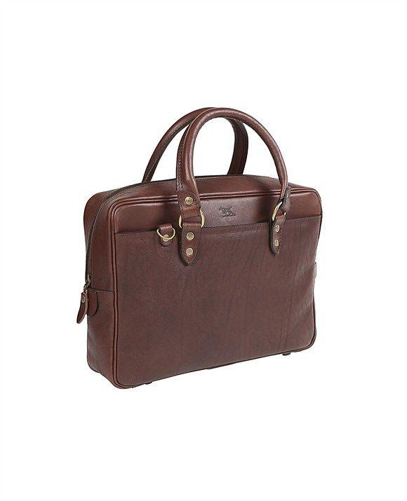 Men's luggage & bags | Men's weekend bags, leather luggage, travel luggage | Rodd & Gunn - New Roxburgh Briefcase