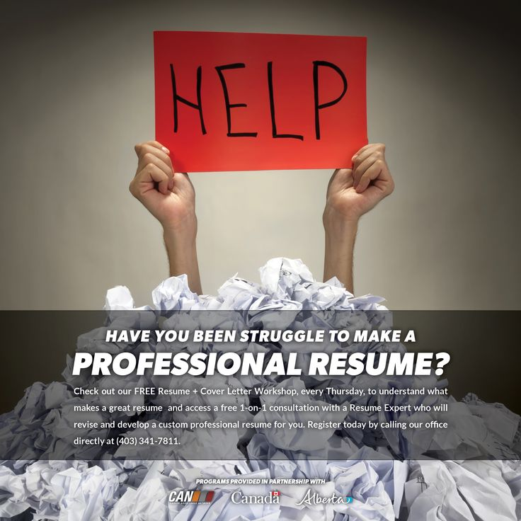 Check out our free RESUME + COVER LETTER WORKSHOP (every Thursday - resume workshop