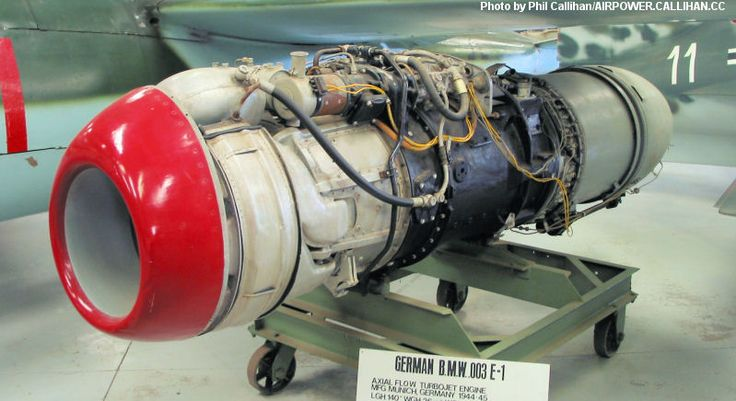 BMW.003 E-1 Jet engine of the Heinkel He 162 Volksjager (People's Fighter) aircraft.