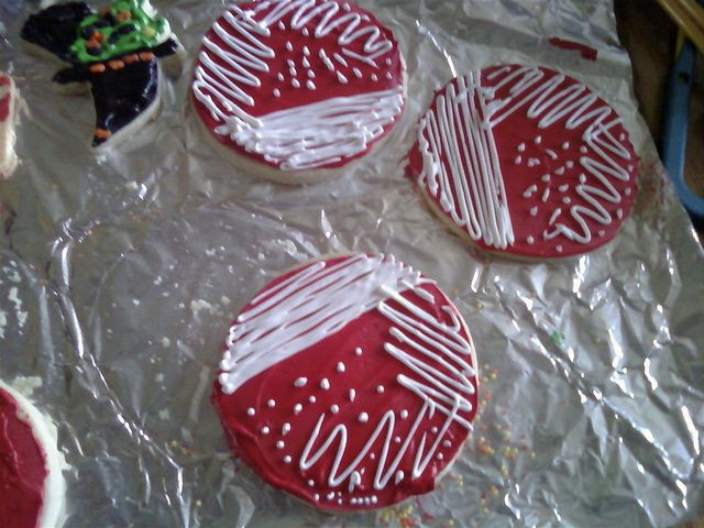 Bacteria Cookies - for our microbiology lab wine  field trip? haha