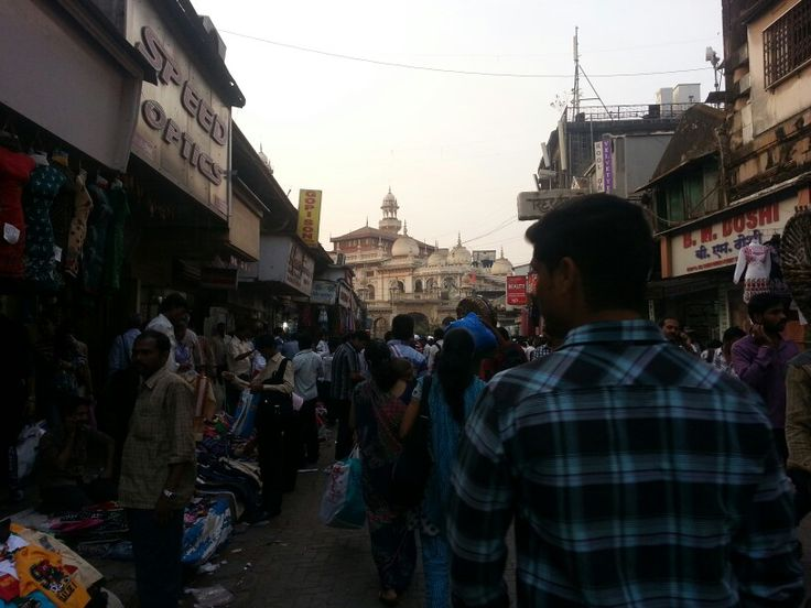A view of a busy market near the hotel.