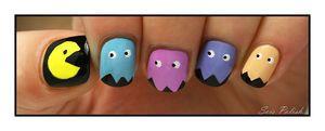 Sois Polish pac-man nail art