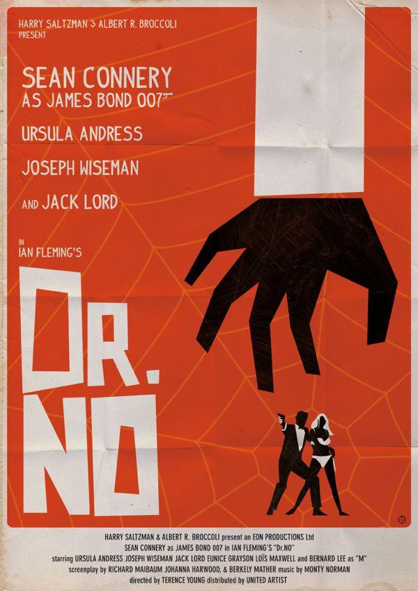 vintage james bond posters | Vintage-Style James Bond Poster Series