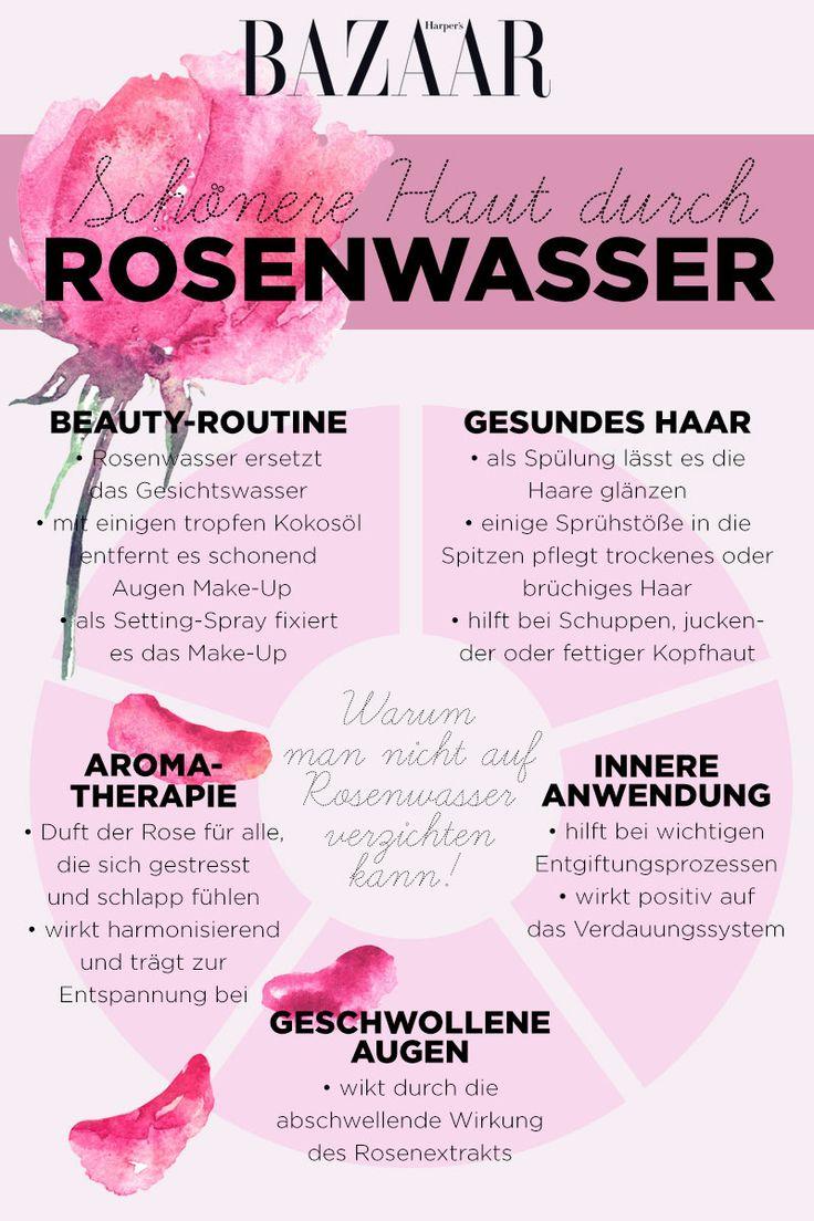 So wirkt Rosenwasser für schöne Haut