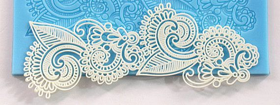 lace silicone mat  LACE 002 by StudioKatClayworks on Etsy