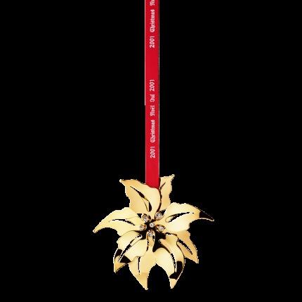 Christmas tree ornament: Poinsettia by Georg Jensen