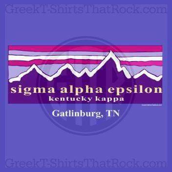 Sigma Alpha Epsilon sunset mountains. Bid Day, Recruitment, and Rush Shirts. Cal…  – Sigma Alpha Epsilon